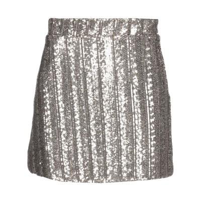 スーベニア SOUVENIR ミニスカート ゴールド S ポリエステル 100% ミニスカート