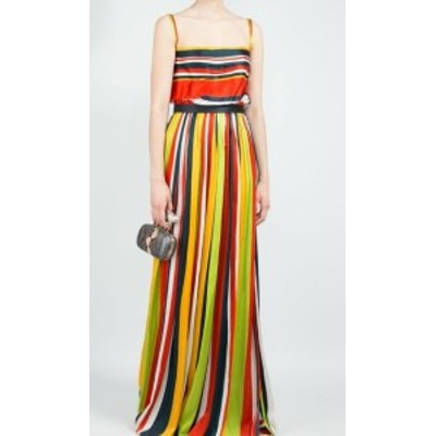 Dsquared2 ディースクエアード ファッション ドレス DSquared2 NEW Red Womens Size 38 (US 2) Striped Sheath Dress Silk