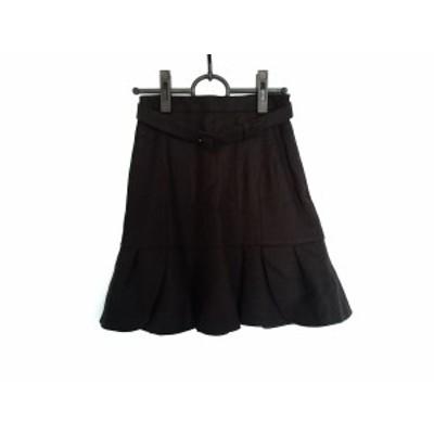 アプワイザーリッシェ Apuweiser-riche スカート サイズ0 XS レディース 美品 ダークブラウン【中古】