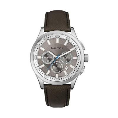 Nautica nct メンズアナログクォーツ腕時計 レザーブレスレット付き A16693G並行輸入
