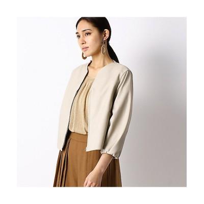 <COMME CA(Women)/コムサ> フェイクレザー ブルゾン(0110VT02) 15【三越伊勢丹/公式】