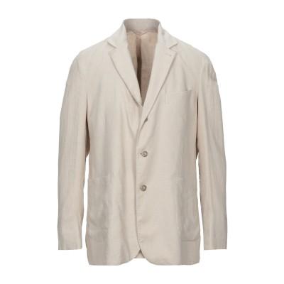 FEDELI テーラードジャケット ベージュ 54 リネン 100% テーラードジャケット
