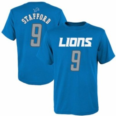 Outerstuff アウタースタッフ スポーツ用品  Matthew Stafford Detroit Lions Youth Blue Mainliner Name & Number T-Shir