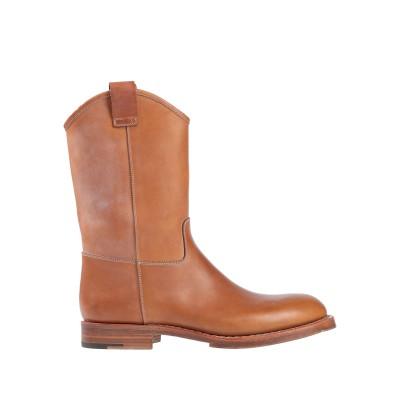 SANTONI ブーツ タン 10 革 ブーツ