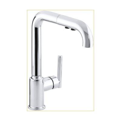 KOHLER K-7505-CP Purist Kitchen Sink Faucet, One Size, Polished Chrome 並行輸入品