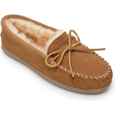 ミネトンカ Minnetonka レディース スリッパ シューズ・靴 Suede Sheepskin Hardsole Moc Slipper 3341 tan