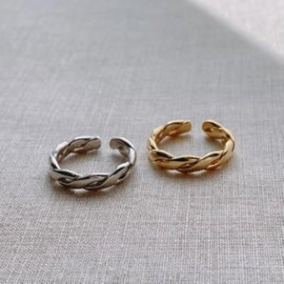 送料無料 ring 指輪 レディース メンズ ツイスターリング S925 シルバー ゴールド  sv925 アクセサリー おしゃれ シンプル