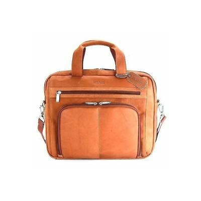 """リュック バッグ ブリーフケース ケネスコール Kenneth Cole """"Out of the Bag"""" Double Gusset Top Zip 15.4"""" Port.Cognac 524464"""