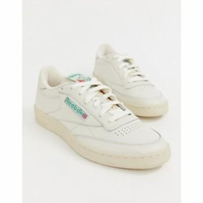 リーボック Reebok メンズ スニーカー シューズ・靴 Club C trainers off white ホワイト
