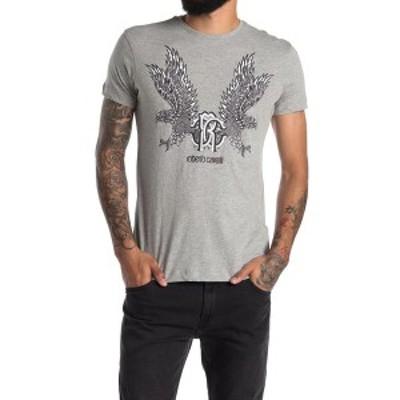 ロベルトカヴァリ メンズ Tシャツ トップス Griffin Crew Neck Graphic T-Shirt MULTI