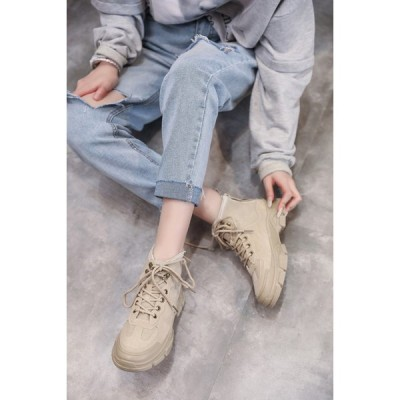 ショートブーツ 秋 冬 人気 ブーツ レディース ローヒール 大きいサイズ 靴 カジュアルシューズ 美脚 歩きやすい 着痩せ効果