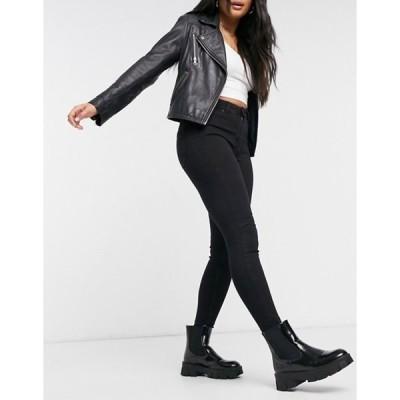 ベルシュカ レディース デニムパンツ ボトムス Bershka high rise skinny jean in black