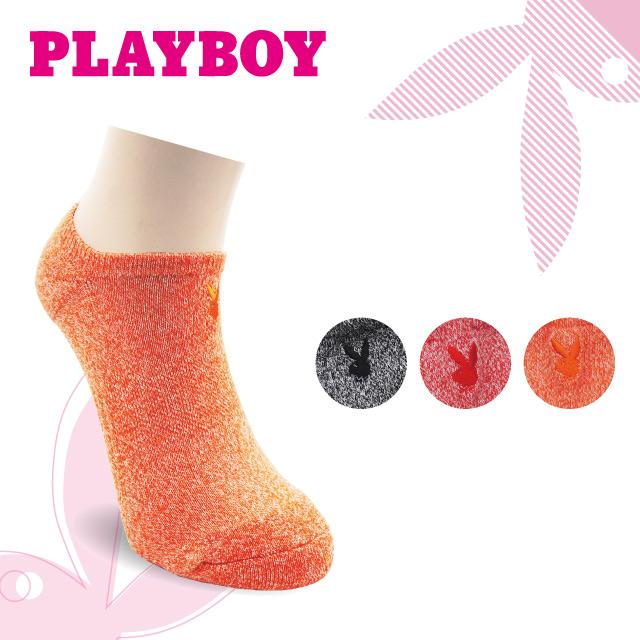 PLAYBOY 花紗女運動短襪