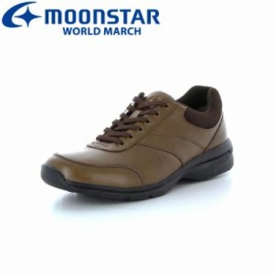≪セール≫ムーンスター ワールドマーチ メンズ カジュアルウォーキングシューズ 靴 WM3015SP Aキャメル 高機能 幅広4E