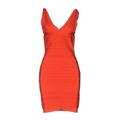 AUTOUR DE MOI ミニワンピース&ドレス 赤茶色 XS レーヨン 90% / ナイロン 9% / ポリウレタン 1% ミニワンピース&ドレス