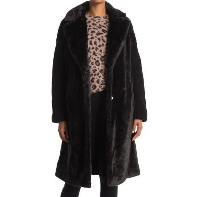 ナインウェスト レディース ジャケット&ブルゾン アウター Faux Fur Coat BLACK