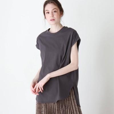 シューラルー SHOO-LA-RUE 【追加生産】USAコットンラウンドヘムTシャツ (ディープグレー)