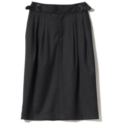 【ビームス アウトレット】 Demi−Luxe BEAMS / ダブルベルト タックタイトスカート レディース NAVY 34 BEAMS OUTLET