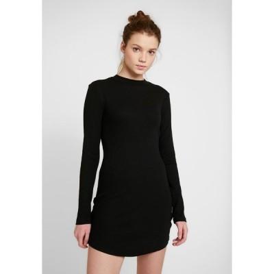 エブンアンドオッド ワンピース レディース トップス BASIC - Jersey dress - black