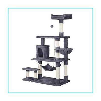 YAHEETECH 61.5in Multi-Level Cat Tree Tower Condo with Scratching Posts, Removable Platform & Hammock, Cat Activity Center Play Furniture fo