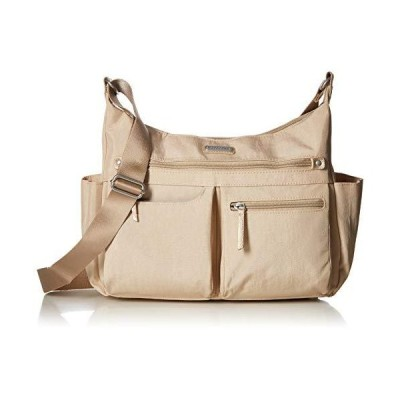 Baggallini New Classic Heritage Anywhere Large Hobo with RFID Phone Wristlet, Champagne Shimmer【並行輸入品】
