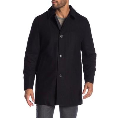 ハートシャファネールマークス メンズ ジャケット&ブルゾン アウター Barcelona Wool Blend Coat BLACK
