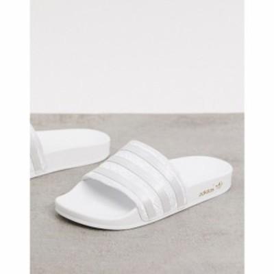 アディダス adidas Originals レディース サンダル・ミュール シューズ・靴 adilette sliders in silver
