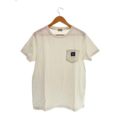 【中古】エンドレスサマー The Endless Summer TES BUHI POCKET  スケボー Tシャツ 半袖 S 白 ホワイト ブランド古着ベクトル 中古 ● 210602 0010 メンズ