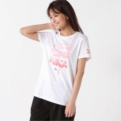 プーマ レディース GRAPHIC Tシャツ ホワイト S M L