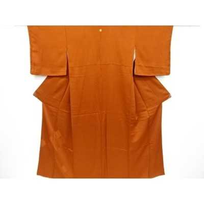 リサイクル 未使用品 菊模様織り出し一つ紋付け下げ色無地着物