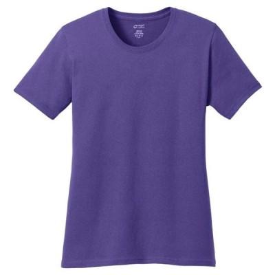 レディース 衣類 トップス Port & Company Womens Coverseamed Neck T-Shirts グラフィックティー