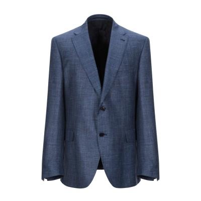 カンタレリ CANTARELLI テーラードジャケット ダークブルー 58 バージンウール 68% / シルク 20% / 麻 12% テーラードジ