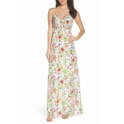 FELICITY & COCO フェリシティアンドコー ファッション ドレス Felicity & Coco NEW White Womens Size Small S Floral Maxi Dress