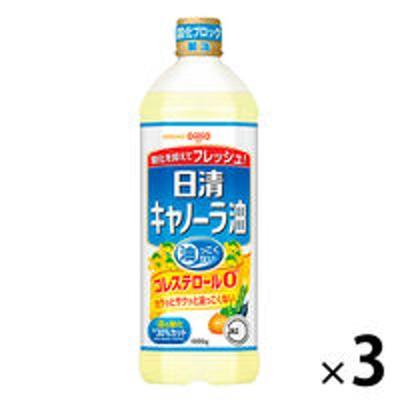 日清オイリオ日清オイリオ キャノーラ油 1セット(1000g×3本)