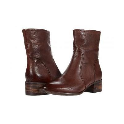 Sam Edelman サムエデルマン レディース 女性用 シューズ 靴 ブーツ アンクル ショートブーツ Hilary - Dark Brown Distressed Calf Leather
