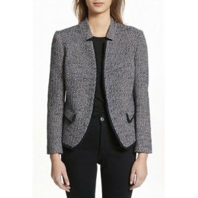 ファッション 衣類 Helene Womens Black Size Medium M Textured Knit Notch Collar Jacket