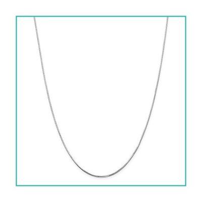 特別価格Solid 14k White Gold 1.20mm Octagonal Snake Chain Necklace - with Secure Lo好評販売中