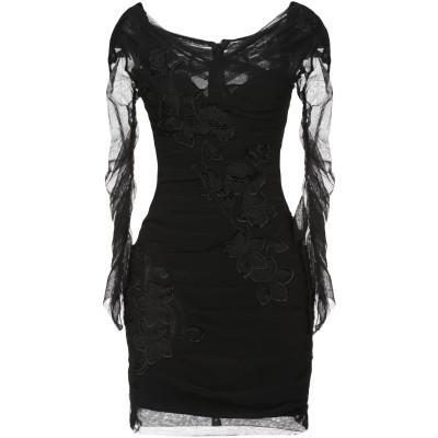 ドルチェ & ガッバーナ DOLCE & GABBANA ミニワンピース&ドレス ブラック 38 コットン 49% / ナイロン 27% / ポリウ