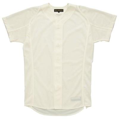 野球 ZETT(ゼット) プロステイタスユニフォームシャツ(フロントオープンスタイル)BU505Fアイボリー (z-bu505f-3100)