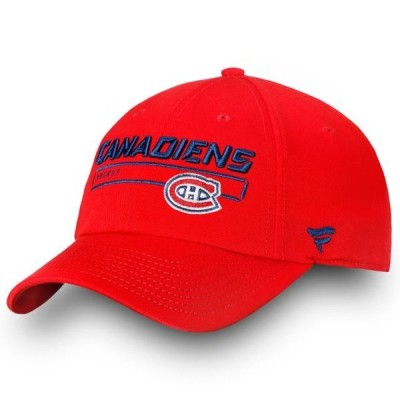 ユニセックス スポーツリーグ ホッケー Montreal Canadiens Fanatics Branded Authentic Pro Rinkside Fundamental Adjustable Hat - Red - O