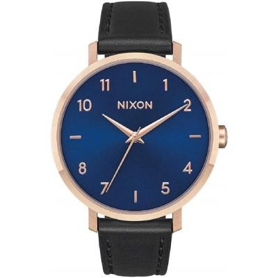 ニクソン  Nixon Women's Arrow Stainless Steel Japanese-Quartz Watch with Leather-Synthetic Strap, Black, 16.76 (Model: A10912763) 輸入品