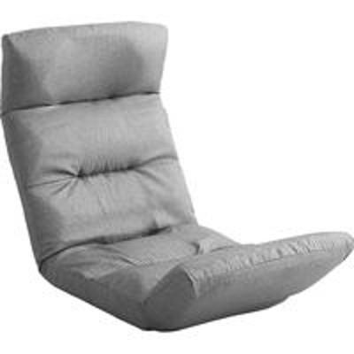 ホームテイストホームテイスト モルン 座椅子 14段階リクライニング 転倒防止機能付き アップスタイル 布張 グレー SH-07-MOL-U 1脚(直送品)