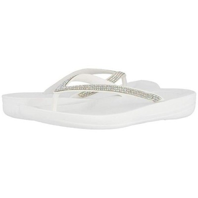 FitFlop Iqushion Sparkle レディース サンダル Urban White
