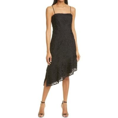 ミリー MILLY レディース ワンピース ワンピース・ドレス Diara Embroidered Lace Asymmetrical Dress Black