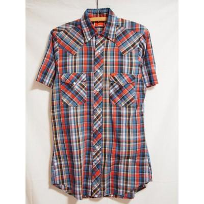 【セール】ELY PLAINS/半袖チェックウェスタンシャツ/Sサイズ相当/送料無料