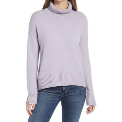 ノードストローム NORDSTROM レディース ニット・セーター トップス Raised Seam Turtleneck Sweater Purple Aura