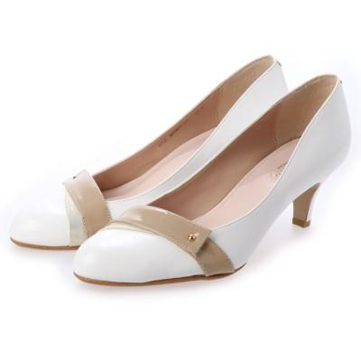 シューズラウンジ shoes lounge レザー パンプス 52MOD91044WHT/C (ホワイト)