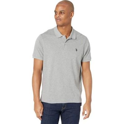 ユーエスポロアッスン U.S. POLO ASSN. メンズ ポロシャツ トップス Classic Interlock Polo Shirt Heather Grey
