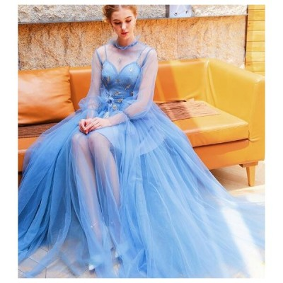 送料無料 ウエディングドレス パーティードレス二次会 結婚式 披露宴 司会者 舞台衣装 イブニングドレス