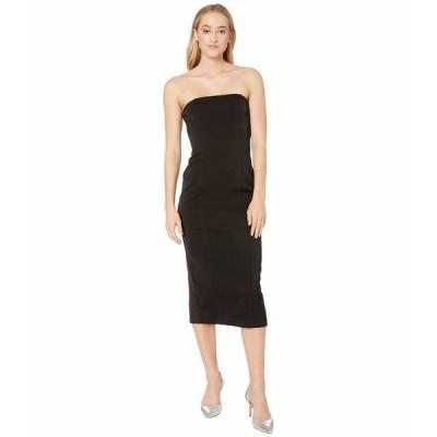 ビービーダコタ ワンピース トップス レディース Isn't It Iconic Bonded Crepe Strapless Zip Dress Black